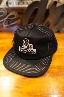 JUNGLES SPHINX LOGO CONTRAST STITCH CAP (BLACK)