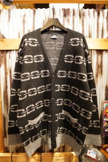 LURKING CLASS BY SKETCHY TANK CHAIN KNIT CARDIGAN (BLACK)