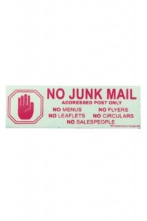 GLOW SIGN (NO JUNK MAIL)