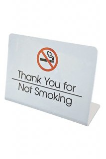 DESK TOP SIGN (NO SMOKING)