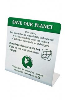 DESK TOP SIGN (SAVE OUR PLANET)