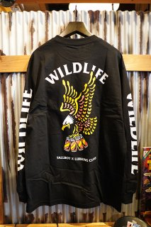 LURKING CLASS BY SKETCHY TANK WILD LIFE x TALLBOY LONG SLEEVE TEE (BLACK)