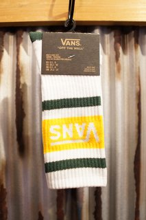 VANS TRIBE CREW SOCKS (WHITE/PINE NEEDLE)