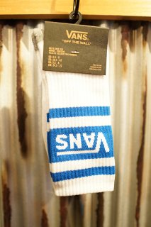 VANS TRIBE CREW SOCKS (WHITE/V.BLUE)