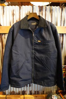 SEAGER MADE IN U.S.A RANCH JACKET (NAVY/ FLANNEL LINED)
