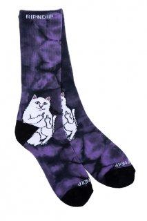 RIPNDIP Lord Nermal Socks (Lavender Tie Dye)