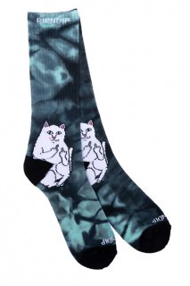 RIPNDIP Lord Nermal Socks (Green Tie Dye)