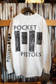 POCKET PISTOLS BAR LOGO L/S TEE (WHITE)