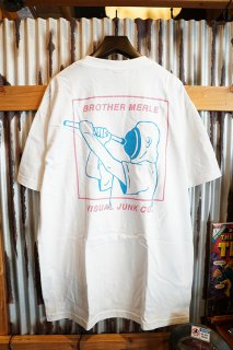 BROTHER MERLE PLUMBER S/S CREW T-SHIRT (WHITE)