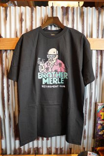 BROTHER MERLE NORM IN HAWAII S/S CREW T-SHIRT (BLACK)