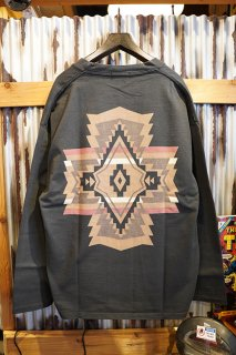 PENDLETON BACK PRINT COTTON CARDIGAN (CHACOAL OVERALL)