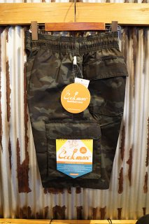 Cookman Chef Pants Short Cargo (Ripstop Camo Black (Woodland))