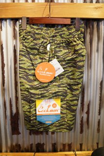 Cookman Chef Pants Short Cargo (Ripstop Camo Green (Tiger))