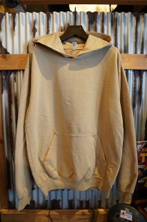 LOS ANGELES APPAREL 9OZ. LONG SLEEVE GARMENT DYE FRENCH TERRY PULLOVER HOODIE (SAND)