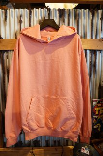 LOS ANGELES APPAREL 9OZ. LONG SLEEVE GARMENT DYE FRENCH TERRY PULLOVER HOODIE (SALMON)