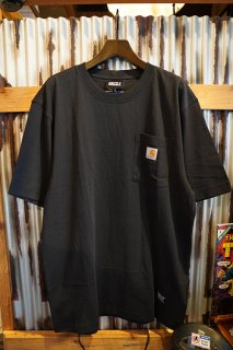 GRIZZLY × CARHARTT PUTTING IN WORK POCKET TEE (BLACK)