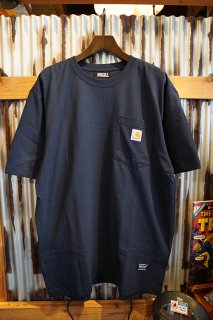 GRIZZLY × CARHARTT PUTTING IN WORK POCKET TEE (NAVY)
