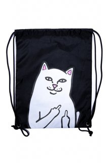 RIPNDIP Lord Nermal Drawstring Bag (Black)