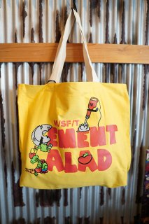 MISFIT SHAPES CEMENT SALAD TOTE (YELLOW)