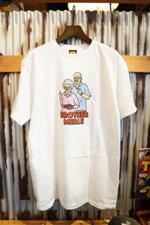 BROTHER MERLE Betty & Norm S/S CREW T-SHIRT (WHITE)