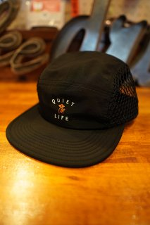 THE QUIET LIFE Jumbo Mesh 5 Panel Camper Hat -Made in USA- (Black)