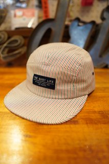 THE QUIET LIFE Postal 5 Panel Camper Hat -Made in USA- (Stripe)