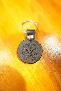 DOGTOWN Pig & Bones Leather Keychain (Black)