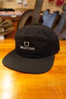 BRIXTON ALPHA MP SNAPBACK CAP (BLACK/WHITE)