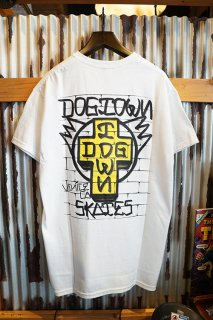 DOGTOWN WALL LOGO T-shirt (White)