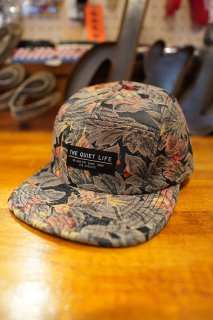 THE QUIET LIFE Denim Baroque 5 Panel Camper Hat -Made in USA- (Floral)