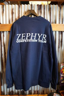 ZEPHYR COMPETITION TEAM LOGO L/S TEE (NAVY)