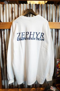 ZEPHYR COMPETITION TEAM LOGO L/S TEE (WHITE)