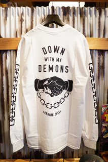 LURKING CLASS BY SKETCHY TANK DEMONS L/S TEE (WHITE)