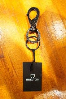 BRIXTON SCROLL KEY CLIP (BLACK)