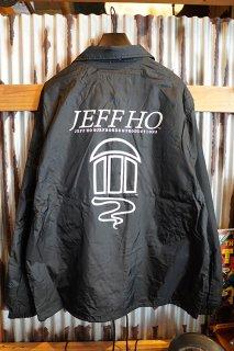 JEFF HO ZEPHYR LOGO COACH JACKET (BLACK)