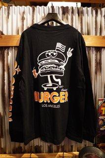 Cookman Long sleeve T-shirts 「Skating Burger」 (BLACK)