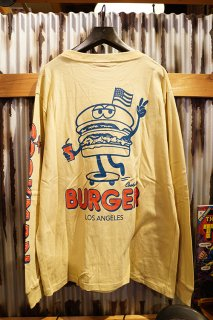 Cookman Long sleeve T-shirts 「Skating Burger」 (BEIGE)