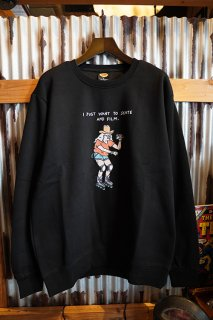 BROTHER MERLE Knit Crewnecks 100% Skater (Black)
