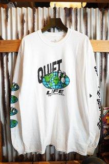 THE QUIET LIFE Globe Long Sleeve Tee (WHT)