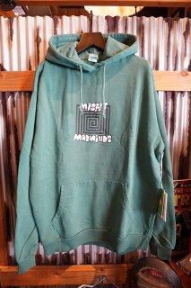 MISFIT SHAPES Loothole 50-50 Fleece Hood (Pigment Washed Green)