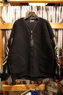 PENDLETON  UNISEX Zip up Boa Cardigan (BLACK)
