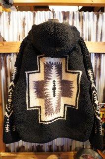 PENDLETON UNISEX Jacqard BOA Fleece Hoodie (BLACK)