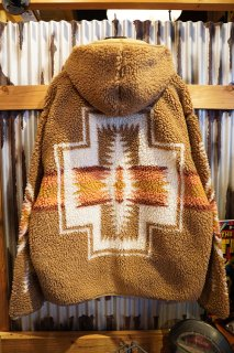 PENDLETON UNISEX Jacqard BOA Fleece Hoodie (CAMEL)