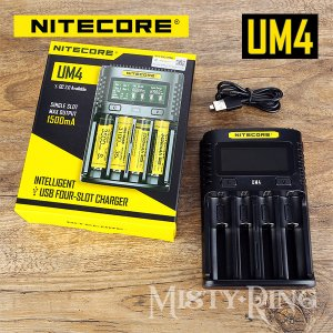 NITECORE UM4 Intelligent USB Charger 4スロット 充電器