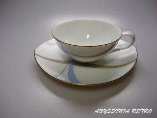 ナルミ 水色×白の昭和レトロなカップ