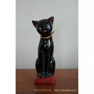 黒猫の貯金箱(陶器)