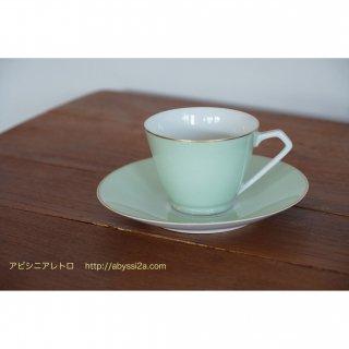 ノリタケRC パステルグリーンのカップ&ソーサー