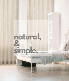 白い壁、ナチュラルな木の質感に合う、ワンランク上のおしゃれなボーダー織デザイン。 お洗濯できます。【FR0210 Lups ルプス BE ベージュ】