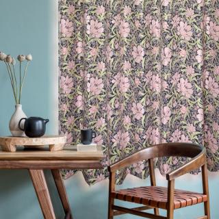 花を描いたワンランク上の上質なゴブラン織りカーテン お洗濯ができる。【FG2002 Hedge ヘッジ PI ピンク】