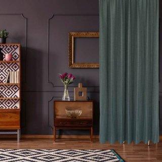 品質には自信があります!1級遮光、防炎しっかりとした素材感の墨黒。ご家庭でお洗濯ができる。【FR7093 Premierten BK ブラック】